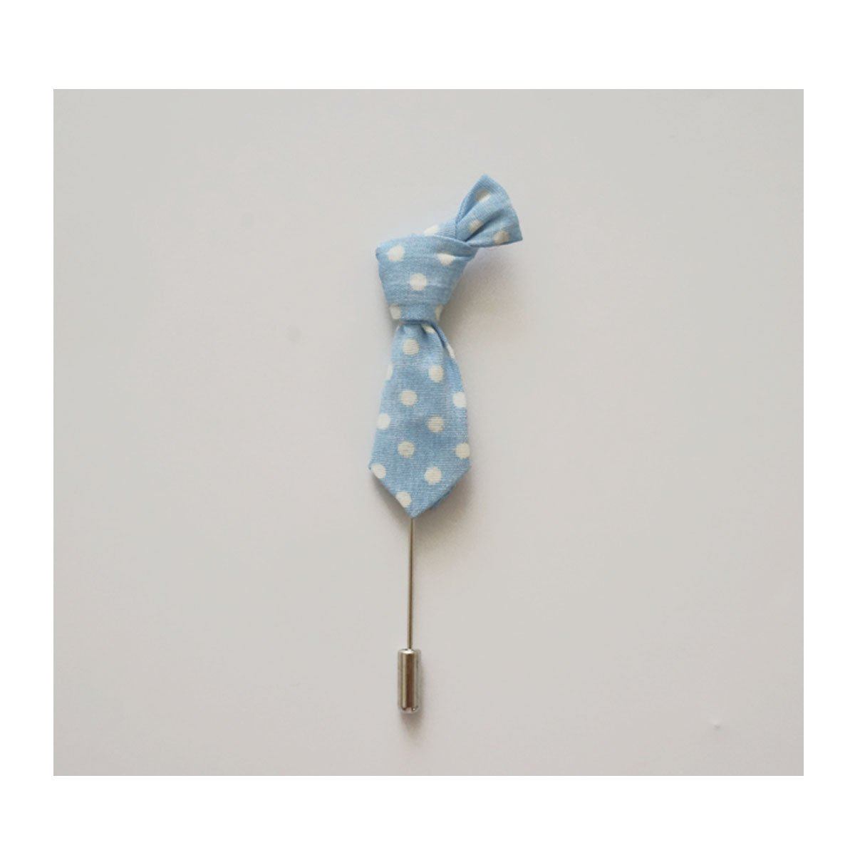 Sunny Home Men's Polka Dot Handmade Boutonniere Lapel Stick Pin for Suit