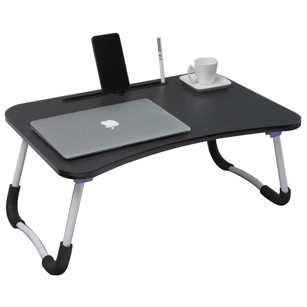 JXSHQS Folding Table Multi-Function Table Bed Folding Table Laptop Table Simple Desk Learning Writing Desk Outdoor Portable Table Folding Table (Color : A) by JXSHQS