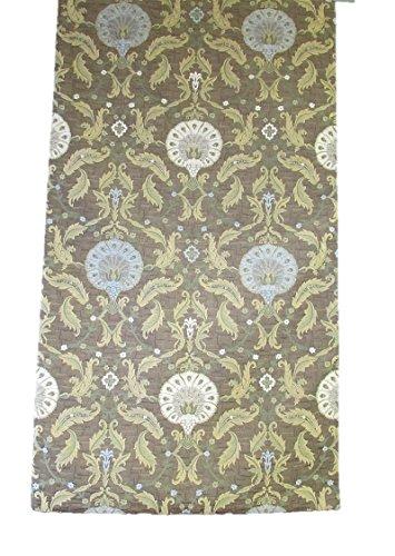 Corona Decor Extra-Wide Italian Woven Ornamental Table Runner, 95 by 26-Inch, Brown by Corona Decor Co.