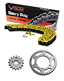 1996-1999 Polaris Sport 400 400L Chain and Sprocket Kit Heavy Duty Yellow