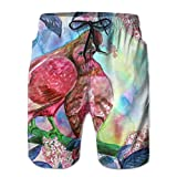 Couple Doves Kissing Summer Casual Style Adjustable Beach Home Sport Shorts