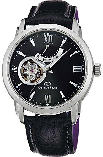 ORIENT watch ORIENTSTAR Semi Skeleton Automatic Black WZ0221DA Men