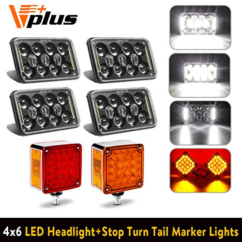 2PCS Square Double Face Stop Turn Signal Tail Light for sale  Delivered anywhere in USA