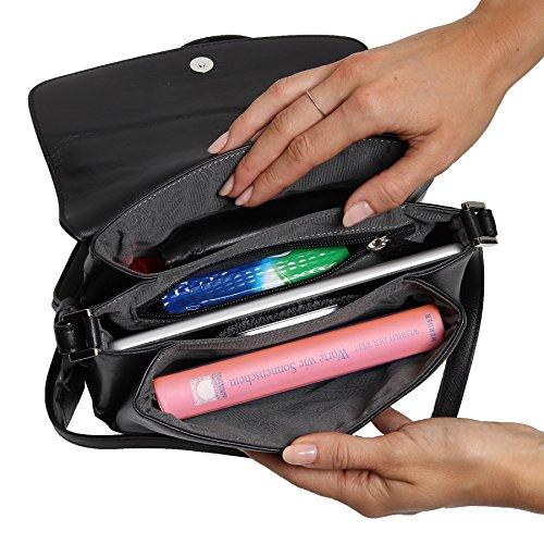 ... Picard Really 8206 schwarz , Damen Leder Umhängetasche Schultertasche  Ledertsche Tasche für Sie ...