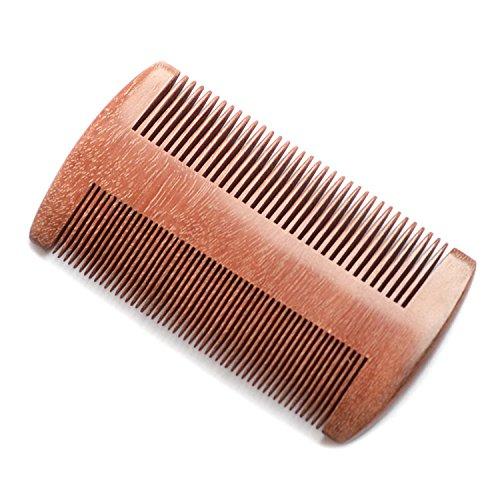 Price comparison product image EQLEF® Red sandalwood no static handmade comb, Pocket comb (beard)
