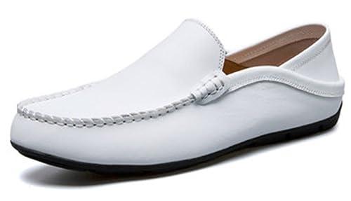 AARDIMI Pantuflas y Mocasines de Caucho Hombre, Color Blanco, Talla 38 EU