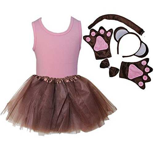 Kirei Sui Kids Animal Costume Tutu Set 110 Pink Monkey