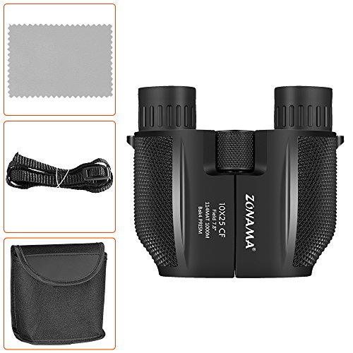 Birding Binoculars , Compact High Power 10X25 Kids Binoculars Mini Shockproof Lightweight Telescope For Bird Watching , Hiking , Hunting , Traveling and Sporting Games , Best Gifts for Kids / Adults by ZONAMA (Image #7)