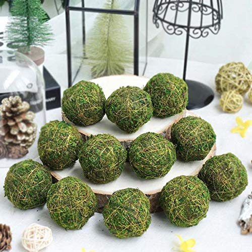 Efavormart 12 Pack 2 Handmade Natural Gold Glittered Twig Rattan Balls Wedding Decoration Birthday Party Arrangement