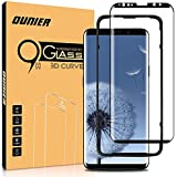 """Ounier Galaxy S9 Screen Protector Tempered Glass,3D Curved Dot Matrix [Full Screen Coverage] Samsung Galaxy S9 Screen Protector (5.8"""") 2018 with Installation Tray (NOT S9 Plus)"""