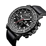 LIEBIG Men's Commander Watch Military Sytle Analog PU Strap