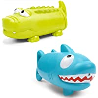 Water Squirt Guns for Kids Swimming Pool Party Outdoor Beach Toys Shark and Crocodile Toys 2 Pack