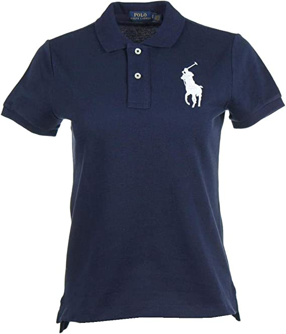 Ralph Lauren Big Pony - Polo para Mujer Azul Marino L: Amazon.es ...