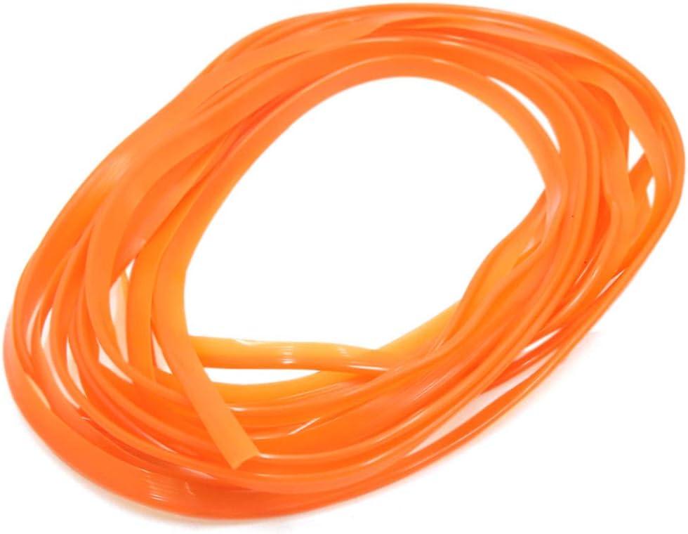 sourcing map 5m Orange Flexible Zierleiste Innenleiste Dekorleiste f/ür Automobile