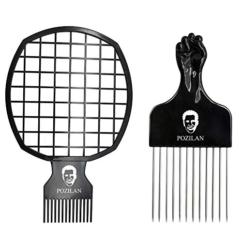 Magic Hair Coils Tool, Afro Pick Twist Hair Curl Sponge Brush, Twist Afro Natural Hair Comb (Black) (Best Twists For Natural Hair)