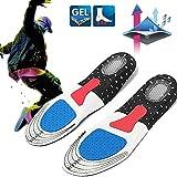 CAMTOA 1 Paire de SemelleS en gel absorption choc Silicone confort chaussures intérieur Sport