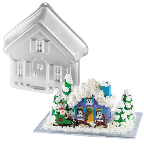 - Wilton Stand-up House Cake Pan / Halloween Haunted Mansion / Christmas Gingerbread Village / Valentine Candyland Cottage / Easter Bunny Hutch / School House / Dog House / Animal Farm House Retired