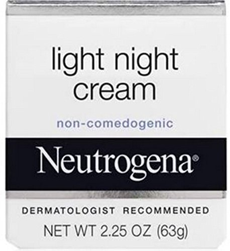 Neutrogena Light Night Cream, 2.25 Ounce (Pack of 2)