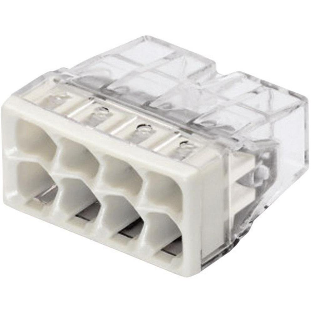 Wago COMPACT-Dosenklemme 8 x 0,5-2,5 qmm, 50 Stü ck, grau, 2273-208 323707