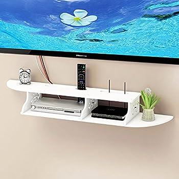 amazon com ogori 2 tier wall mounted floating shelves dvd shelf rh amazon com Floating Cabinet Shelves floating dvd player shelves