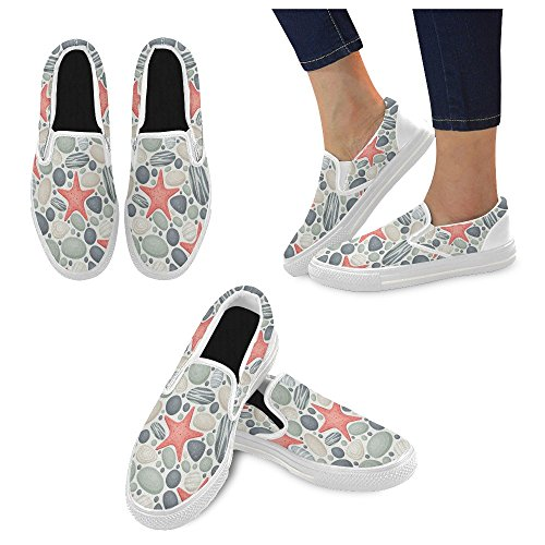 Canvas Debora Unique Unusual Loafers Sneakers Womens Slip Fashion Shoes Custom Multicoloured8 on zdrwadqx7