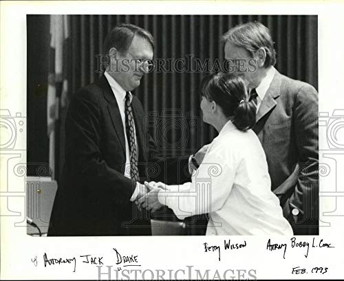 Vintage Photos 1993 Press Photo Jack Drake, Attorney Betty Wilson Bobby Cook