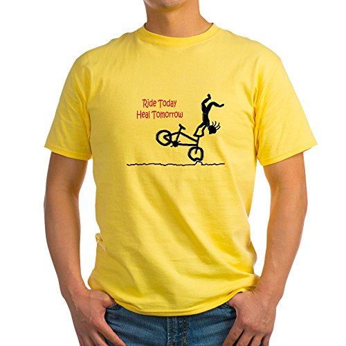 CafePress - Ash Grey T-Shirt With Mountain Bike Logo - 100% Cotton T 33949b8a300e