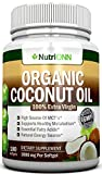 Coconut Oil Pills for Weight Loss ORGANIC COCONUT OIL Capsules - 180 Softgels - 4000 MG Daily - Cold-Pressed Extra Virgin Coconut Oil - Great For Hair, Skin And Acne - Promotes Healthy Metabolism and Natural Weight Loss - Raw and Unrefined - Best Premium Coconut Oil On The Market!