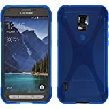Silicone Case for Samsung Galaxy S5 Active - X-Style blue - Cover PhoneNatic + protective foils
