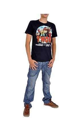 Marvel Thor Comic - Camiseta Azul Héroes Kult marcas Print Vikingo estilo el Viajero: Amazon.es: Deportes y aire libre