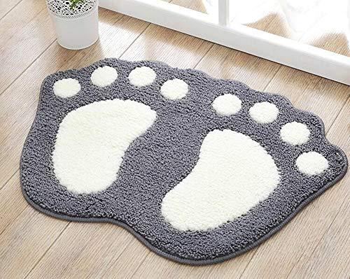 TOPCHANCES Bathroom Rug Mat, Non Slip Big Feet Bath Mat Water Absorbent Bath Rug,Microfiber Doormat Toilet Bath Carpet…