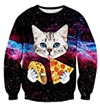 Space Cat Ugly Christmas Pullover Sweatshirt
