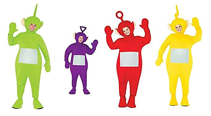 Amazon.com  Teletubbie Adult 4 Pack Costume - One Size - Chest Size 42-48   Clothing 11788d0ef80fc
