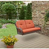 Cheap Better Homes & Gardens* Azalea Ridge 2-Person Outdoor Swing, Vermillion in Burnt Orange