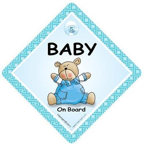 Bebé a bordo señal de coche, NIETO BORDO, Azul Oso ...