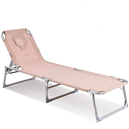 Wondrous Goplus Adjustable Chaise Lounge Chair Recliner W Sunbathing Tanning Face Down Hole For Beach Outdoor Pool Patio Deck Apricot Gmtry Best Dining Table And Chair Ideas Images Gmtryco