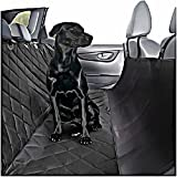 Plush Paws Ultra-Luxury Pet Seat Cover - 2 Bonus Harnesses 2 Seat Belts for Full Size Trucks, Large Suv's & Cars - XL Black, Waterproof, Nonslip Silicone Backing