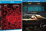 It Follows & Seven 7 [Blu-ray] 2 Pack Thriller Creepy Movie Set Brad Pitt