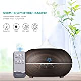 3m air purify - Erjing Cool Mist Humidifier 3 in 1 500ml Air Humidifier Essential Oil Aroma Diffuser Purifier for Household Office (Blackwood)