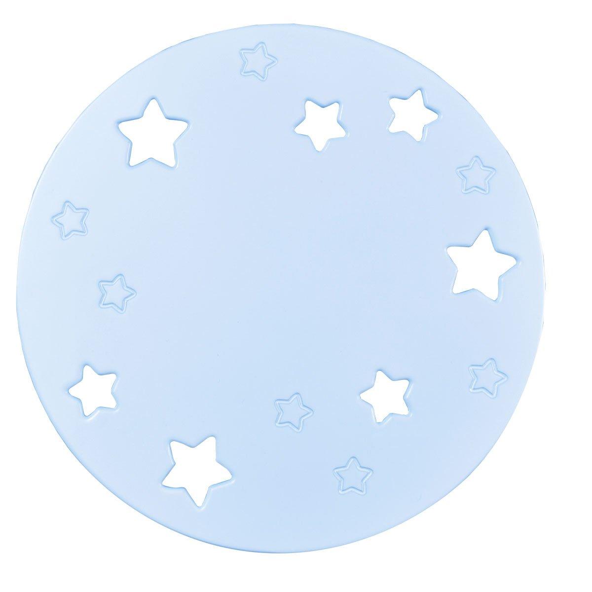 Bainba Wandleuchte Mond und Sterne 36 x 36 cm blau