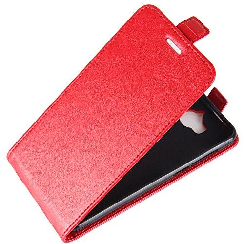 OFU® Para Huawei Nova Young Mya-L11 Funda,PU Hybrid Card Carry Pocket Wallet Slot,Cartera Cuero Funda de Piel Wallet Case para Huawei Nova Young Mya-L11 Carcasa Flip Case Cover(negro) rojo