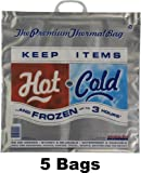 "Large Hot Cold Thermal Bags (5 Bags, 20""x20""x7"")"