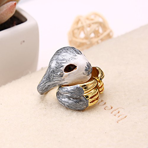 Gmai 3Pcs Stack Rings Cute Open Joint Knuckle Animal Nail Ring Set, Squirrel/Deer/Goose Gmai Jewelry