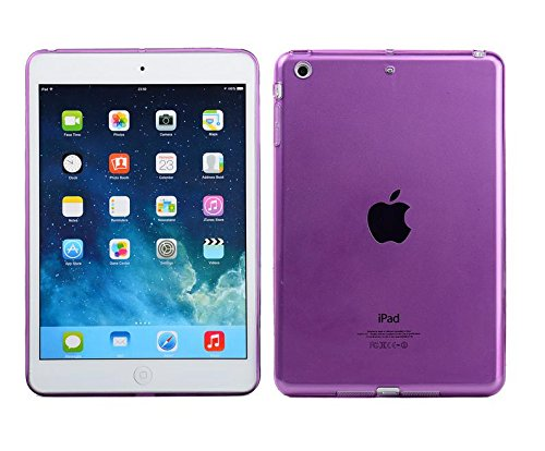"Onlineb2c High Quality Clear Soft TPU Transparent Gel Silicone Bumper Tab Case Skin Cover for Apple iPad air iPad 5 9.7"" (Purple)"