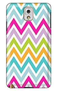 cool-gg 7 color zigzag stripes PC Hard new Durable note 3 case