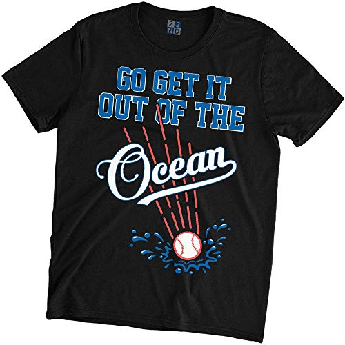 Dodgers Fashion T-shirt - Go Get It Out of The Ocean T-Shirt Baseball Black