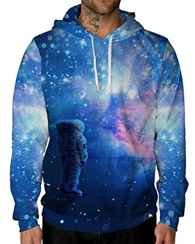INTO THE AM Cosmic Journey Lightweight Hoodie Sweatshirt (Large)