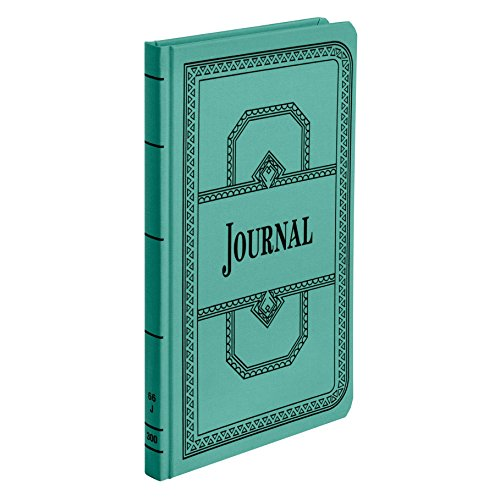 """Boorum & Pease 66 Series Account Book, Journal Ruled, Green, 300 Pages, 12-1/8"""" x 7-5/8"""" (66-300-J)"""