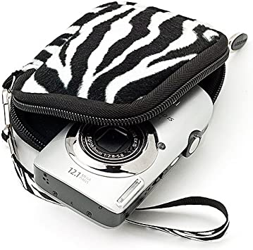 Zebra VanGoddy Mini Glove Sleeve Pouch Case for Sony Cyber Shot DSC Series Digital Cameras and Screen Protector