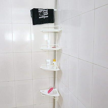 Estantería de ducha con 4 bandejas y 2 ganchos, 1 toallero de ...